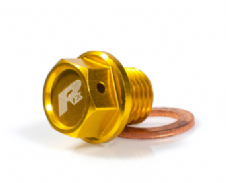 RFX Magnetic Drain Bolt Yellow M12 x 10mm x 1.25 Suzuki RM125/250 01-08 RMZ250 07-18 DRZ400 00-17